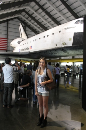 Endeavour was so large that we couldn't even fit it into a single picture when standing in the corner of the room!